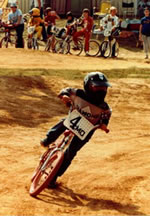 Jerrod racing at age 6